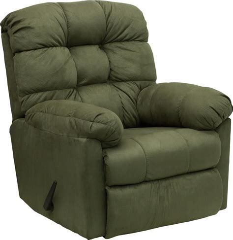 Microfiber Recliners On Sale Microfiber Contemporary Styling Rocker Recliner Green