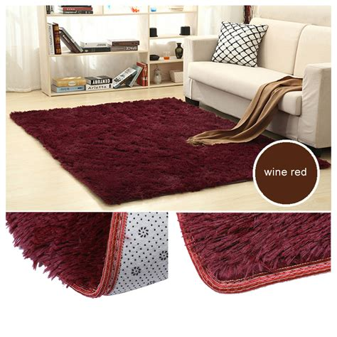 How To Clean A Fluffy Rug by Large Size Fluffy Rugs Anti Skid Shaggy Area Rug Dining