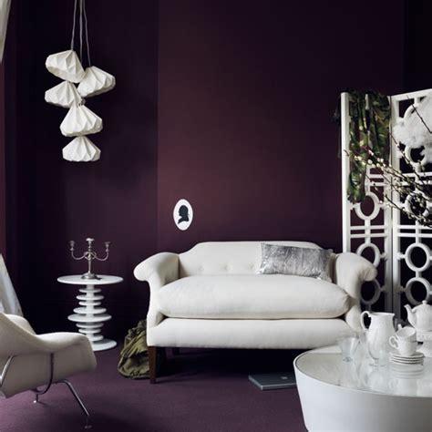 purple decor for living room dramatic purple living room housetohome co uk