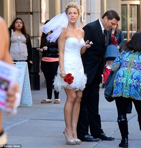 uk sports celebrities kate gosselin sports a wedding dress on the streets of new