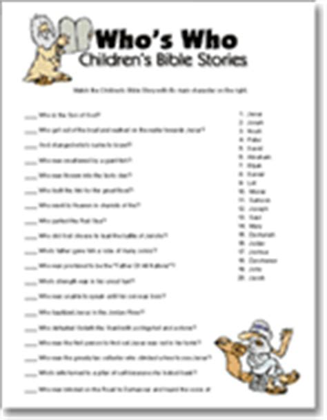 free printable christian games for adults who s who children s bible stories 171 babyshowergames