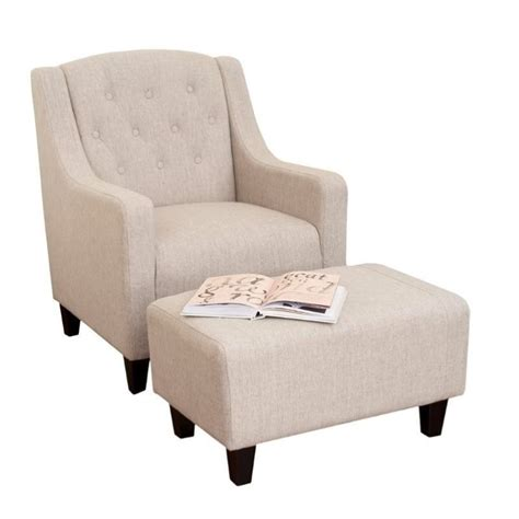small bedroom chair with ottoman trent home rodrigo arm chair and ottoman in beige 331522cy