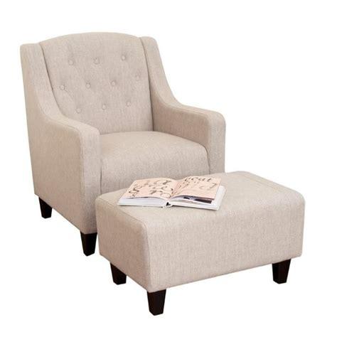 beige chair and ottoman trent home rodrigo arm chair and ottoman in beige 331522cy