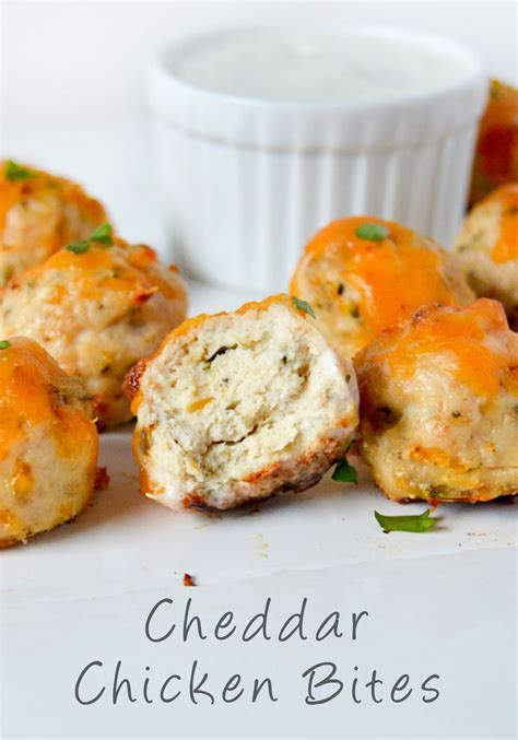 cheddar chicken bites recipe appetizers   occasions ground chicken recipes chicken