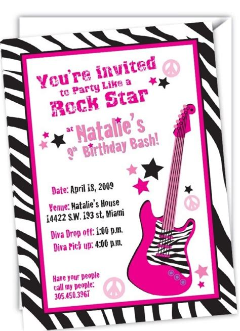 free printable rockstar birthday invitations 1000 images about scrapbooking on pinterest newsletter