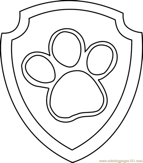 paw patrol blank coloring pages to print paw patrol badge free colouring pages
