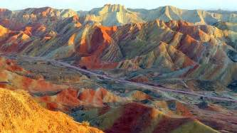 colorful mountains the zhangye danxia landform the colorful mountains of china