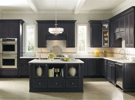 kitchen cabinet black considering the dark and cool black kitchen cabinets