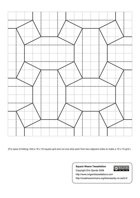 Origami Tessellations Diagrams - convention diagrams origami tessellations