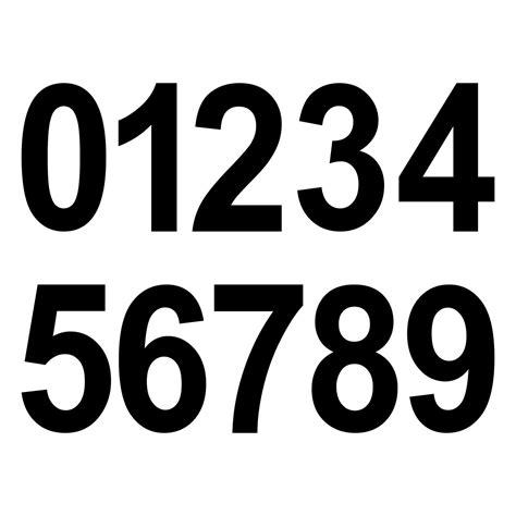Aufkleber Zahlen Hausnummer by 20 Ziffern 8cm Schwarz Aufkleber Ziffer Zahl