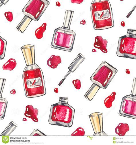 Make Wall Paper - watercolor make up background stock illustration image