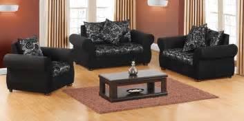Grey Modern Kitchen Design vivo 3pce lounge suite black