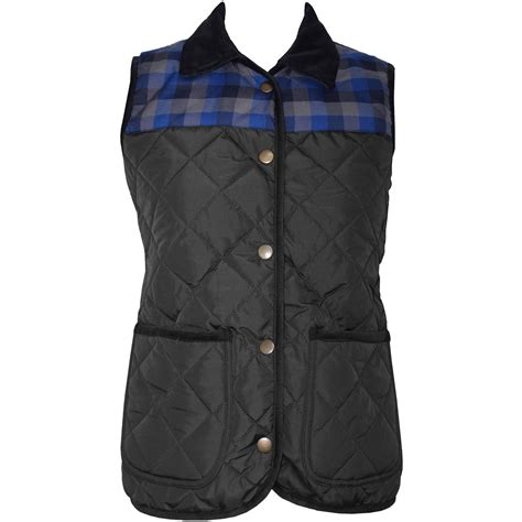Womens Quilted Gilet by Womens Quilted Padded Bodywarmer Gilet Jacket Size