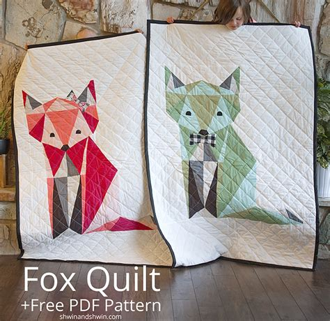 Masculine Home Decor by Fox Quilt Free Pdf Pattern Shwin And Shwin