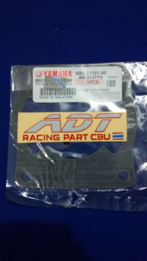 Paking Gasket Silinder Blok Yamaha Fizr Ori adtracing spare parts motor cbu dan part racing drag bike roadrace spare parts yamaha 125z