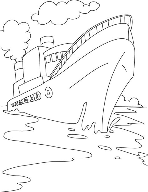 fireboat worksheets cruise ship coloring page az coloring pages
