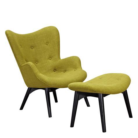 Modern Chair Ottoman by Aiden Mid Century Modern Green Fabric Chair Ottoman In