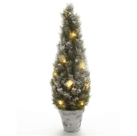 small trees with lights small snowy tree with led lights bluebell boutique