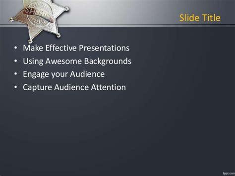 Fppt Free Powerpoint Presentation Template Sheriff Powerpoint Backgr Enforcement Powerpoint Templates
