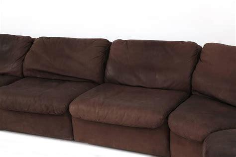 Buffalo Leather Sofa by De Sede Nine Section Buffalo Leather Sofa At 1stdibs