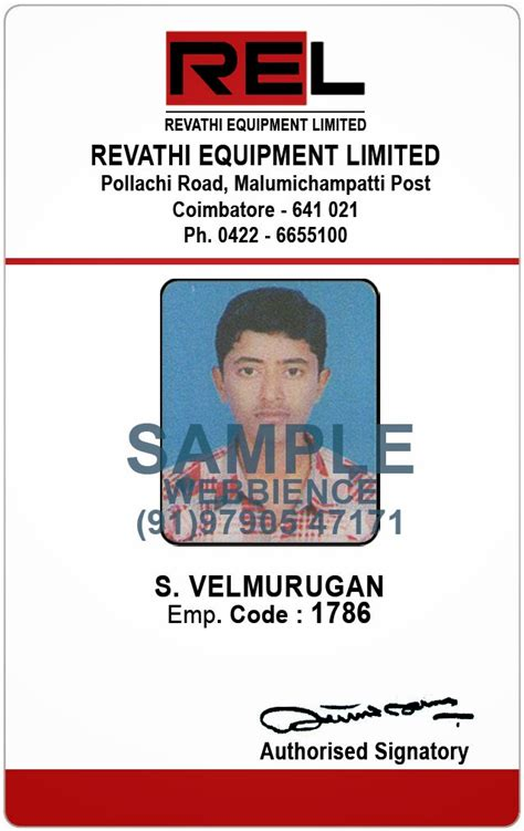 id card design coimbatore webbience employee id card templates 20131231
