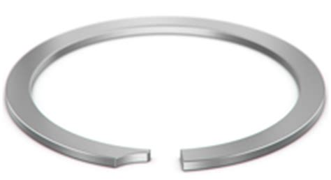 constant section retaining ring constant section rings snap rings smalley steel ring