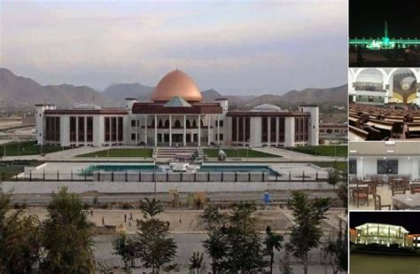 news afghanistan a glimpse into the newly built afghan parliament building