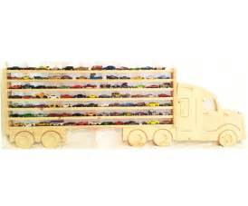 Wooden Truck Wheels Holder Large Wooden Semi Truck Hanging Storage Display By