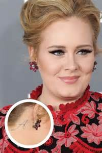 adele tattoo behind ear adele 171 shefinds