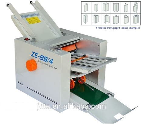 Desktop Paper Folding Machine - jt ze 8b 4 automatic desktop paper folding machine china