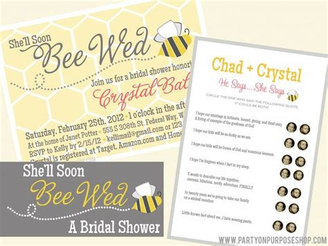 Purpose Of Bridal Shower 122 best images about meant to bee bridal shower on