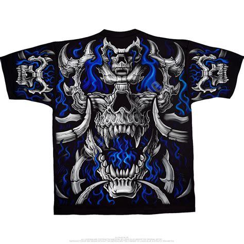 Skull The Shirt skulls blue skull black t shirt liquid blue