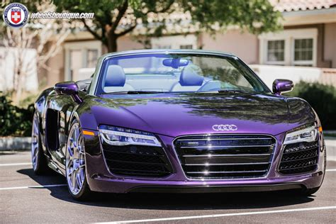 galaxy audi r8 audi r8 spyder velvet purple on hre p40sc stopper