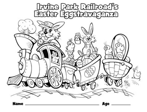 easter train coloring page easter coloring page from irvine park railroad to view