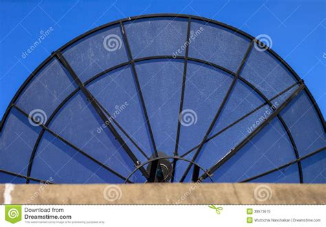 big satellite big black satellite dish stock photo image 39573615