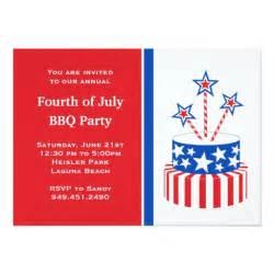 fourth of july fireworks 5x7 paper invitation card zazzle