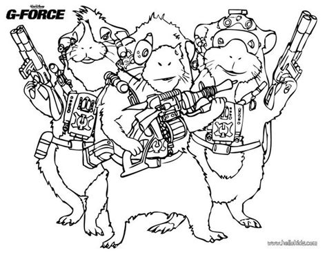 the g force team coloring pages hellokids com