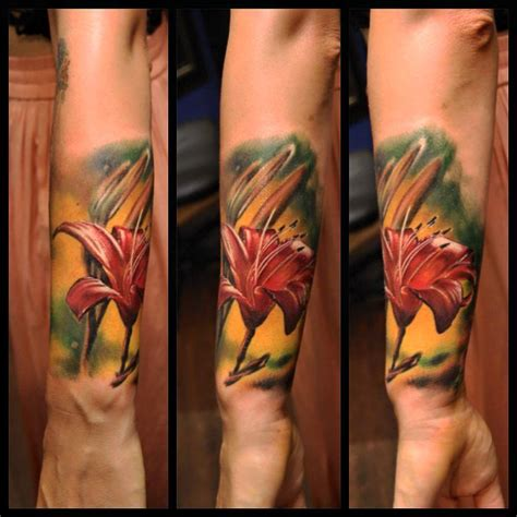 color realism tattoo realism color color flower flowers tattooing