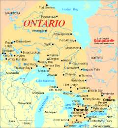 maps of ontario canada ontario canada map