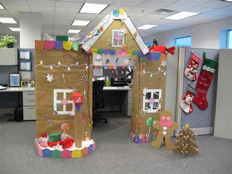 work christmas decorating ideas cubicle