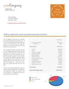total compensation statement template total compensation statement sles