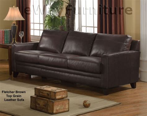 nouveau top grain leather sectional next new classic archer tobacco top grain leather
