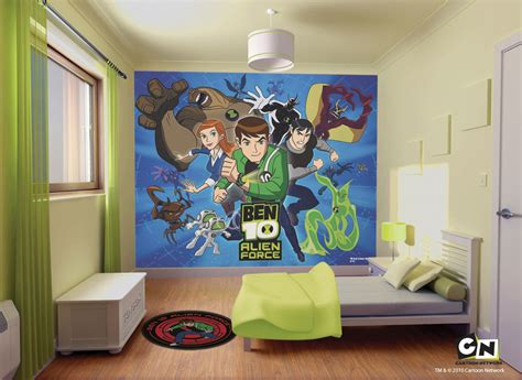 wall decals for rooms cool ben 10 bedroom wall mural decal ideas for