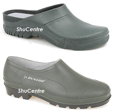 waterproof gardening shoes clogs garden dunlop green