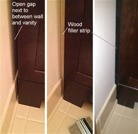 Baseboard Around Bathroom Vanity How To Replace And Install A Bathroom Vanity And Sink