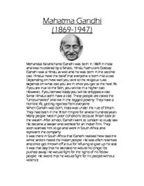 mahatma gandhi biography written in which language essay on gandhi