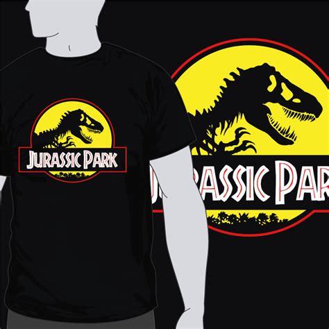 Kaos Jurassic Park Original Gildan Jurassic Park Logo Ii White jurassic park zalo camisetasfrikis es