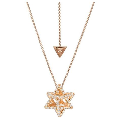 merkaba gold necklace for sale at 1stdibs