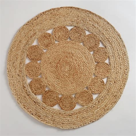 circle rugs 3 jute circle rug world market