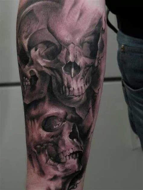 awesome skull tattoo inked pinterest